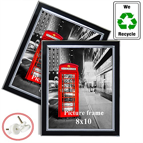 Hanging Picture Frame 8x10 without Mat for Family Photos Wall Mounted Decorative