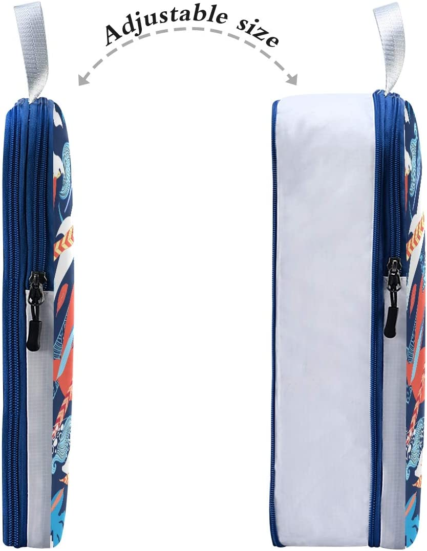 Sea Creatures 3 Set Packing Cubes,2 Various Sizes Travel Luggage Packing Organizers c2