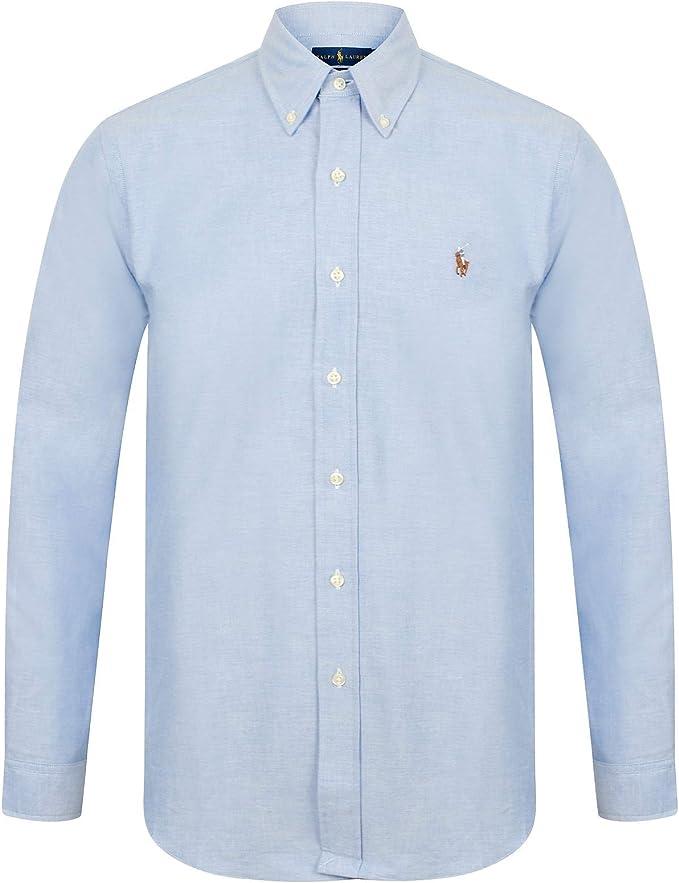 Ralph Lauren Camisa Oxford de ajuste entallado para hombre: Amazon.es: Ropa y accesorios