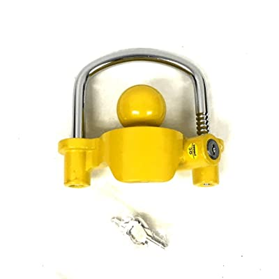 Trailer Coupler Lock Boat Marine RV Tractor Hitch Theft Protection 2 Keys Lock: Sports & Outdoors