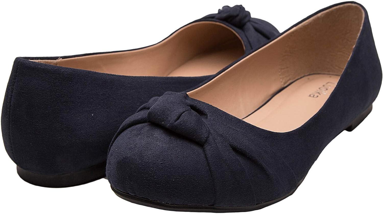 Round Toe Suede Ballet Flats