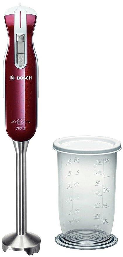Bosch Mixxoquatro MSM7400 - Batidora de mano, 750 W, color rojo
