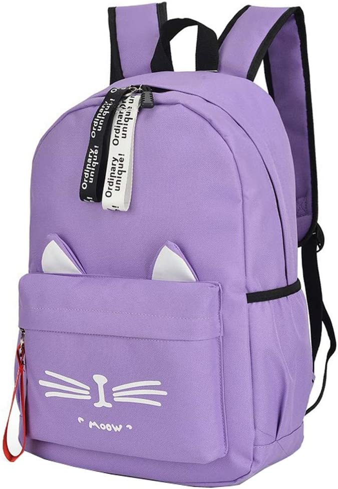 Backpack Cute Grey Cat With Party Hat,Animal Laptop Travel School College Backpacks Bag