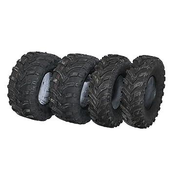 Set von 4 Quad Reifen 25X10-12 /& 25X8-12 6ply ATV Reifen E markiert Stra/ße legal Paketmenge