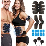 ROKOO Muscle Trainer Stimulator Equipment with 10 Gel Pads, Abs Stimulator for Men Women with 6 Modes and 10 Levels of…