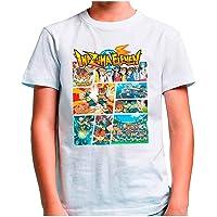 Mx Games Camiseta Inazuma Eleven (Tipo GTA) Blanca (Talla: 9-10 años)