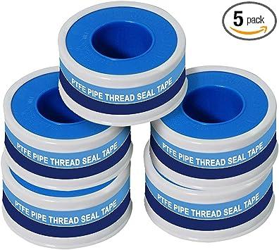 5 Roll Plumbing Fitting Thread Seal Tape PTFE Water Pipe Plumber Repair