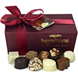 Hamiltons Burgundy Luxury Belgian Ballotin 24 Handmade Chocolates Gift Box