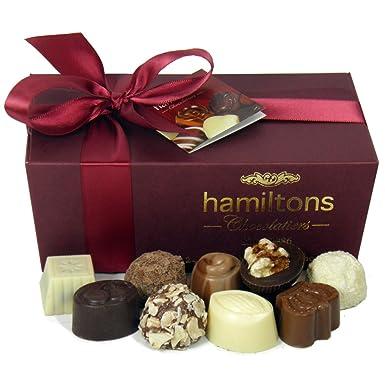 Hamiltons burgundy luxury belgian ballotin 24 handmade chocolates hamiltons burgundy luxury belgian ballotin 24 handmade chocolates gift box negle Choice Image