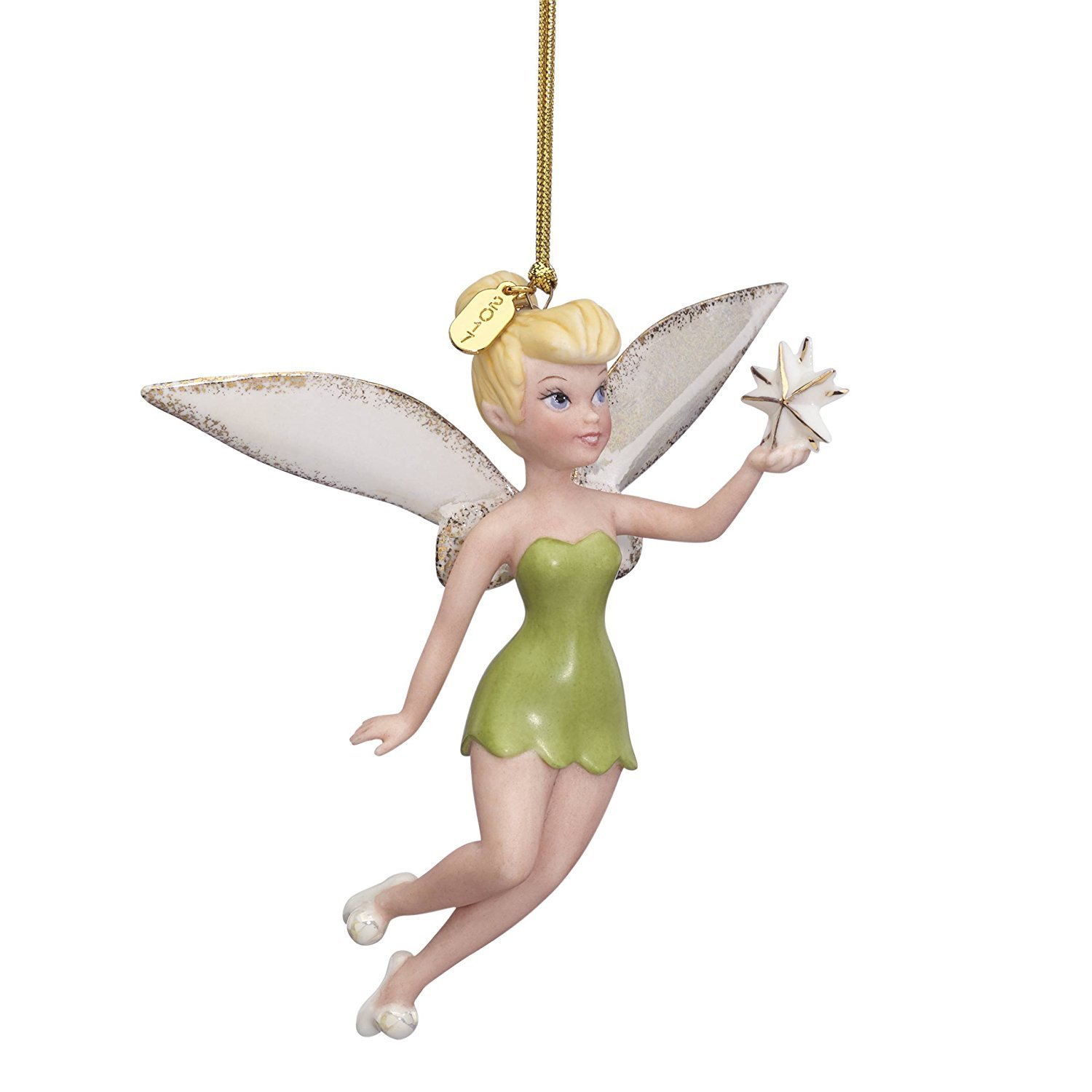 Lenox Disney 2017 Tinkerbell Ornament Figurine Annual Up & Away Christmas Tree Star Fairy Pixie
