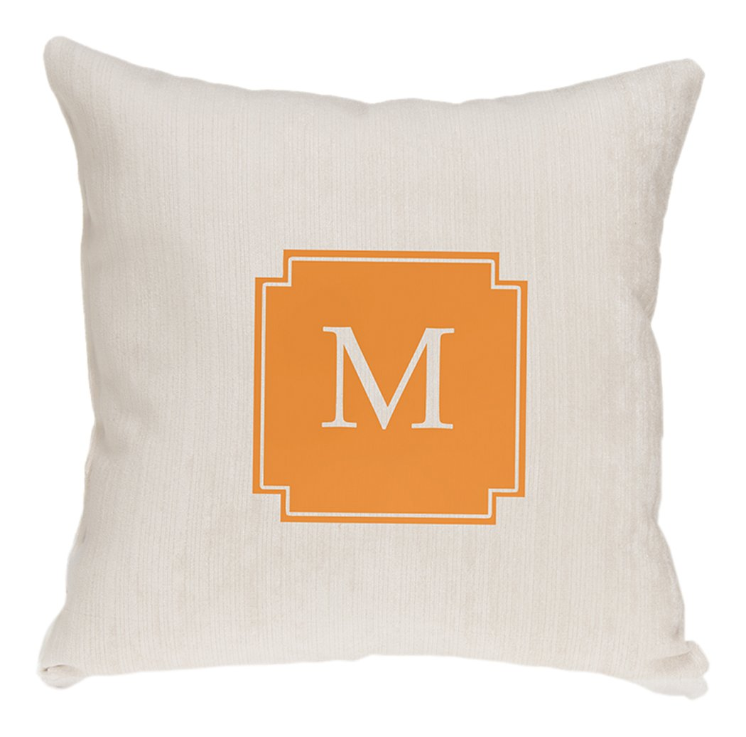 Glenna Jean Millie Monogram Pillow, White by Glenna Jean