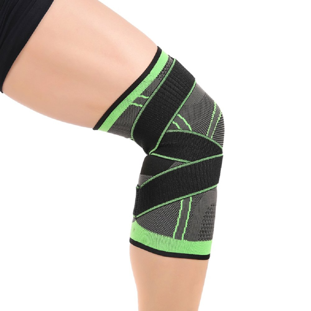 Knee Brace,Conlink Compression Support Knee Sleeve with Adjustable Strap Knee Pad for Pain Relief, Meniscus Tear, Arthritis, ACL, MCL,Suit for Running, Cycling, Tennis, Golf and Basketball by Conlink (Image #6)