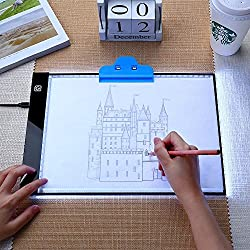 Coidak LED Light Box, A4 Ultra-Thin Portable LED Tracing Light Pad with USB Powered Dimmable Brightness, for Artists, Drawing, Aniamtion, Sketching, Designing, X-Ray Viewing