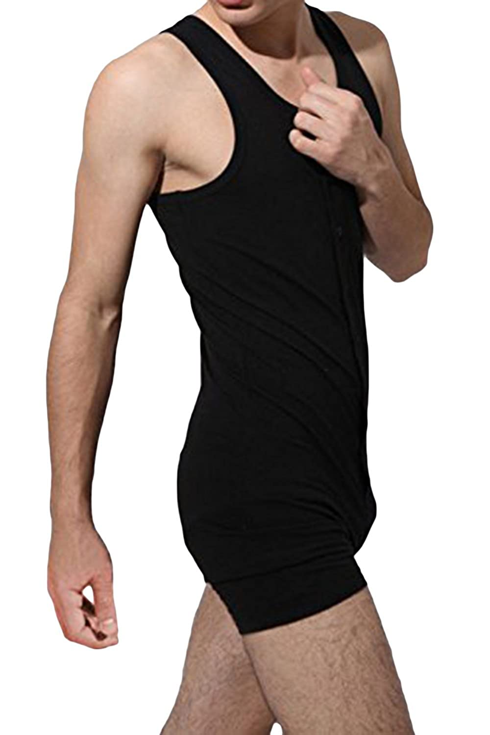 Edwardian Men's Fashion & Clothing One Piece Button Bodywear Body Suit Underwear Tights Leotard $17.91 AT vintagedancer.com
