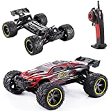 GPTOYS RC Cars S912 LUCTAN 33MPH 1/12 Scale Electric Monster Hobby Truck With Waterproof Electronics,Remote Control Off Road Red Truggy Toys