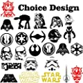 Star Wars Logo Symbols Emblem Anime Vinyl Decal Sticker for Car Window Laptop Wall Room