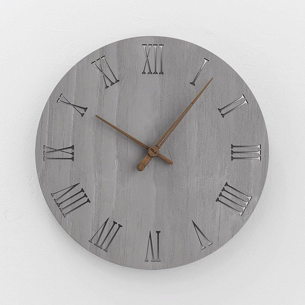 時計の壁時計リビングルームクリエイティブクロックシンプルなベッドルームの壁のチャートミュートクリエイティブクォーツ時計の壁時計12インチ (色 : D) B07FHYRB1HD