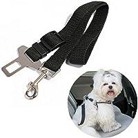 UNHO Cinturón de Seguridad de Coche para Perros Arnés Ajustable para Mascotas Cinturón Universal de Nylon para…
