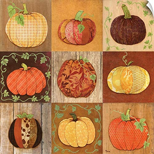 Pumpkin Patch Door - CANVAS ON DEMAND 9 Patch Pumpkins Wall Peel Art Print, 48