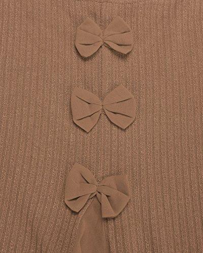 Casual Cachi2 Maglia Elegante Maniche Vestito Moda Corto Lunghe ZANZEA Pizzo Maglione Donna Pullover TwZOczqH