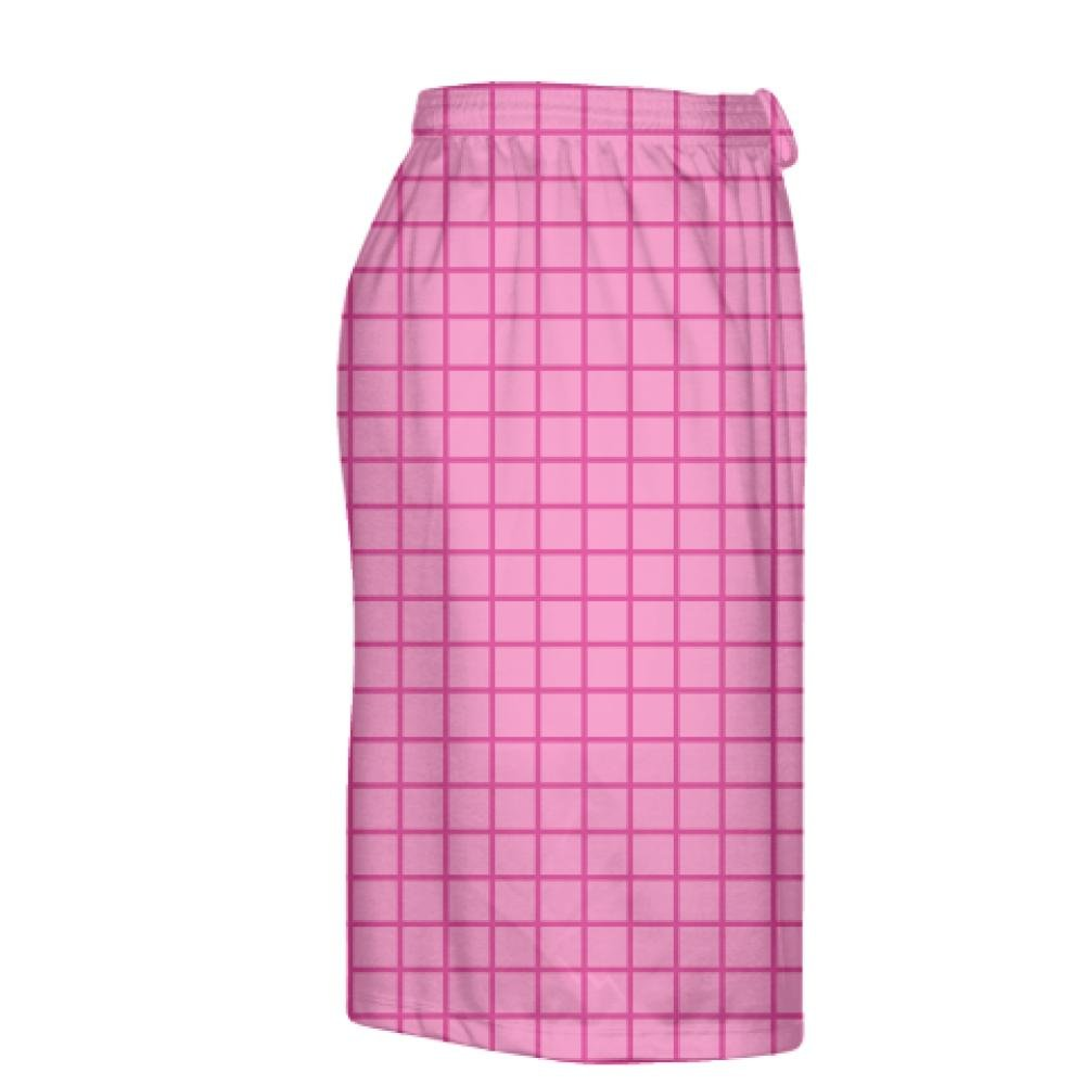 Pink Lax Shorts Youth Lacrosse Shorts Youth Pink Youth Grid Pink Hot Pink Gold Lacrosse Shorts