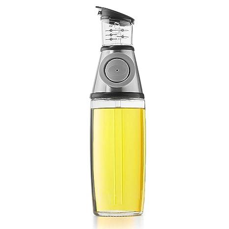 Aceitera con dosificador - dispensador de 500 ml Dispensador con botón de presión para dosis de