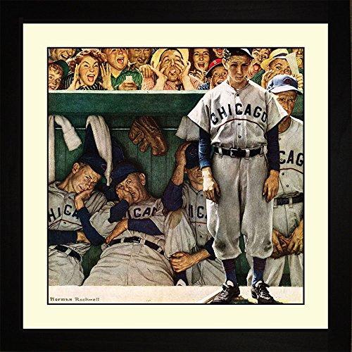 Norman Rockwell DUGOUT Framed Baseball Wall Hanging Art Gift ()