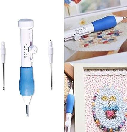 Adjustable Punch Needle Stitching Kit YarnEmbroidery Felting Threader Needles US