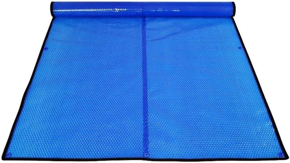 Erru Cubierta para Piscina Azul Manta Solar Térmica con Ojales, 400um Cubierta de Invierno de Piscina de Tierra para Jardín al Aire Libre Trabajo Pesado y Antipolvo (Size : 5.2×8.5ft/1.6×2.6m)