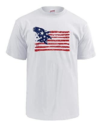 09311ded Soffe Men's American Flag Graphic T-Shirt Americana Collection, Blue Eagle  Flag, Small