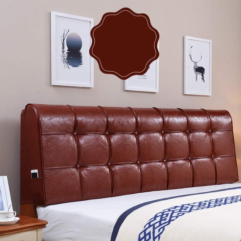洗えるカバー ベッド 背もたれ ヘッドボード クッション フワフワ 腰痛対策 (色 : B, サイズ さいず : 200cm) 200cm B B019C66KHY