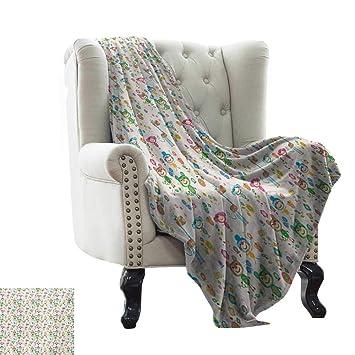 Amazon.com: LsWOW Fleece Blanket Baby,Spring Funny Animal ...