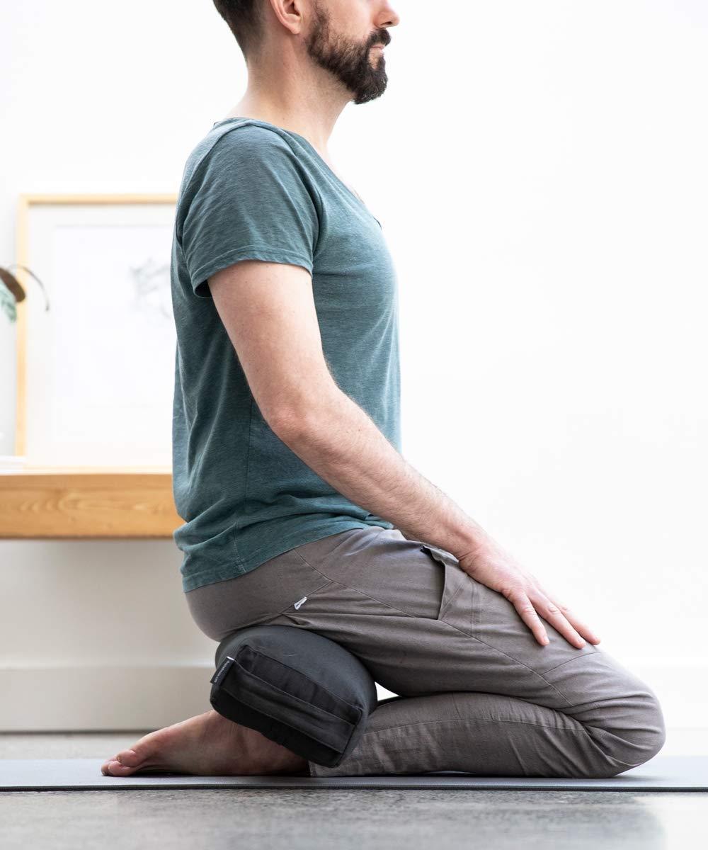 Amazon.com: Halfmoon Prana Yoga Bolster - Charcoal: Sports ...