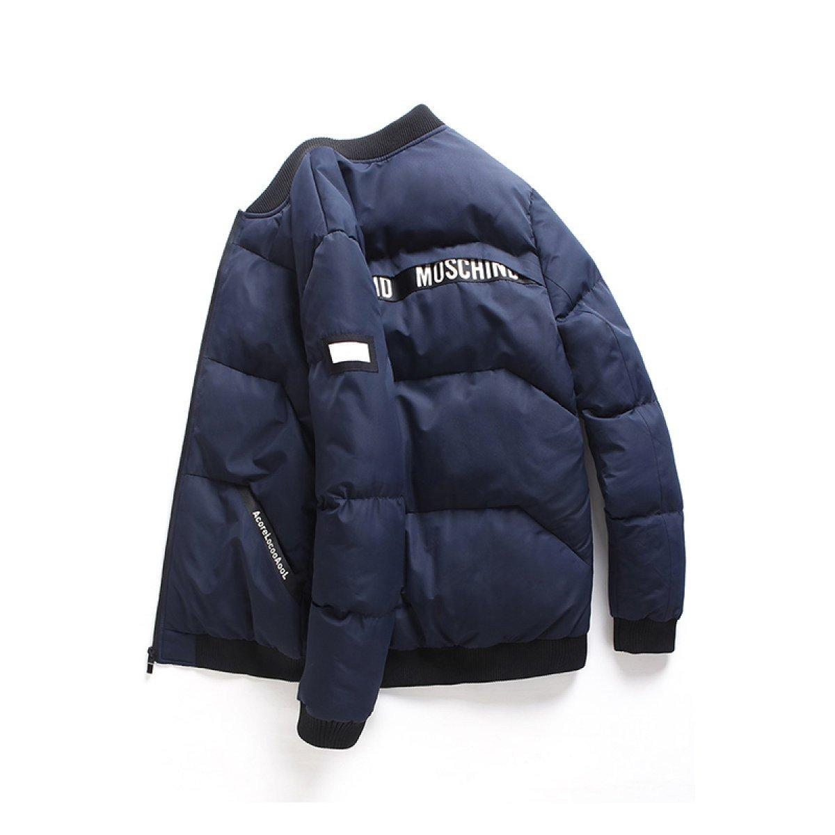 Nihiug Winter Herren Baumwoll Jacke Gefütterte Kurze Jacke Warme Winterjacke Mantel Herren Winterjacke Outwear Wintermantel Herren Mantel Jacke