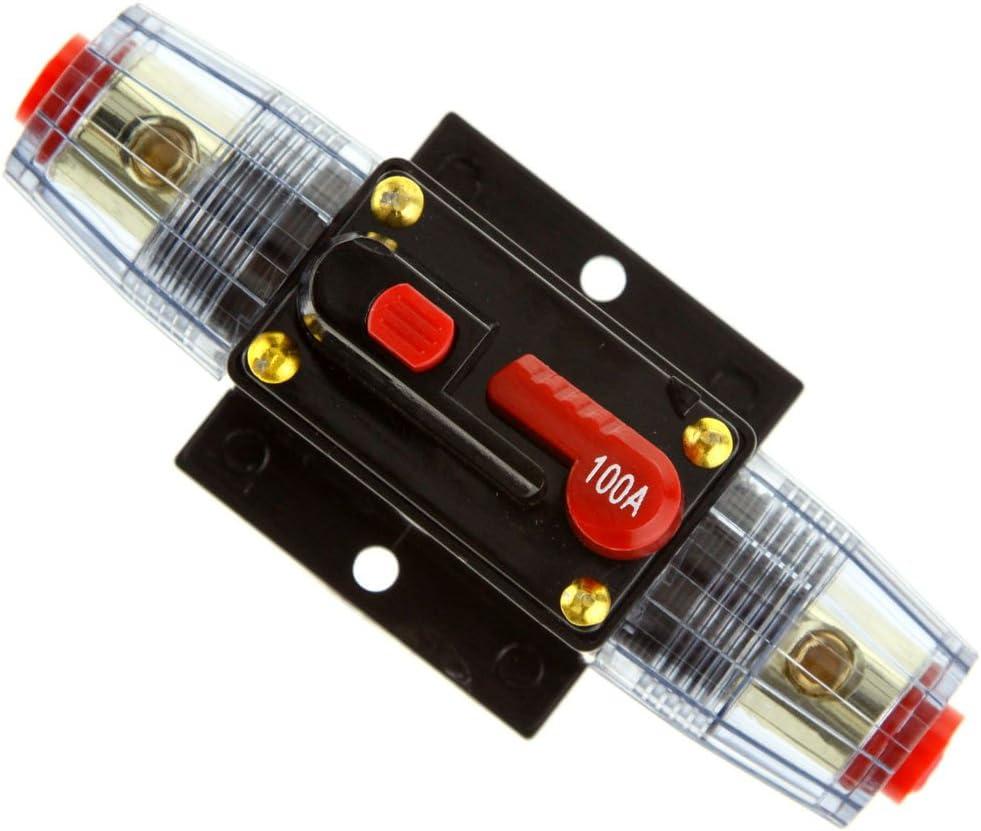 Micro Trader Interruttore audio per auto con amplificatore da 100A e portafusibili stile AGU