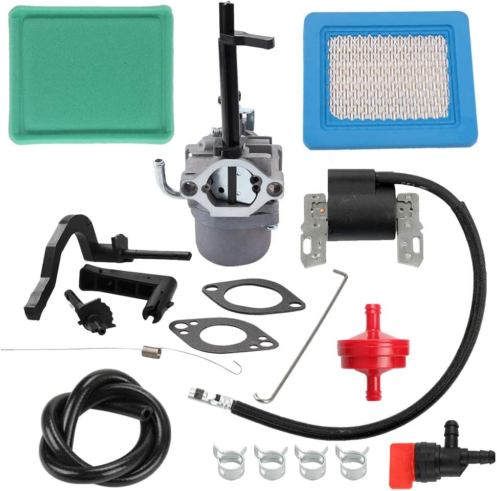 Fuel Li 796321 591378 Carburetor 491588 Air Filter 591459 Igniton Coil Kit for 699966 696132 695920 699958 492341 491312 Engine