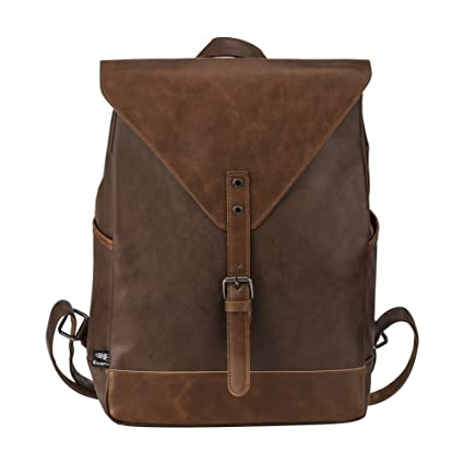 Vintage PU Leather Laptop Backpack 55e906dd75913