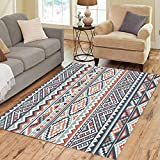 Pinbeam Area Rug Ethnic Pattern Abstract Navajo Geometric Rustic Native American Home Decor Floor Rug 2' x 3' Carpet
