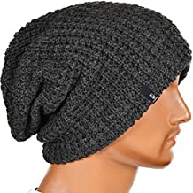 FORBUSITE Mens slouchy Oversized Knit Long Beanie Cap for Summer Winter B08