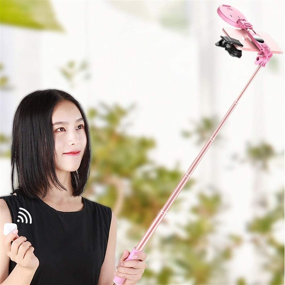 Color : Green 4 in 1 Selfie Ring Light 1.7m Extendable Selfie Stick Tripod Selfie LED Ring Light with Monopod Phone Mount for Smartphones