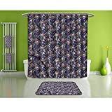 HoBeauty home Bathroom Suits &,Vintage,Narcissus Iris Bloom,Fashion Personality Customization adds Color to Your Bathroom.