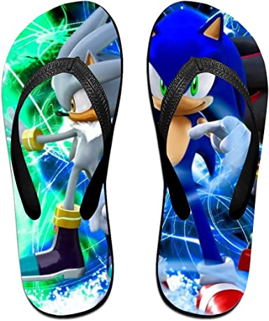Amazon Com Sonic Boom Sonic The Hedgehog Anime Flip Flops Beach Sandals Thong Slippers For Indoor Outdoor Bathroom Shower Clothing