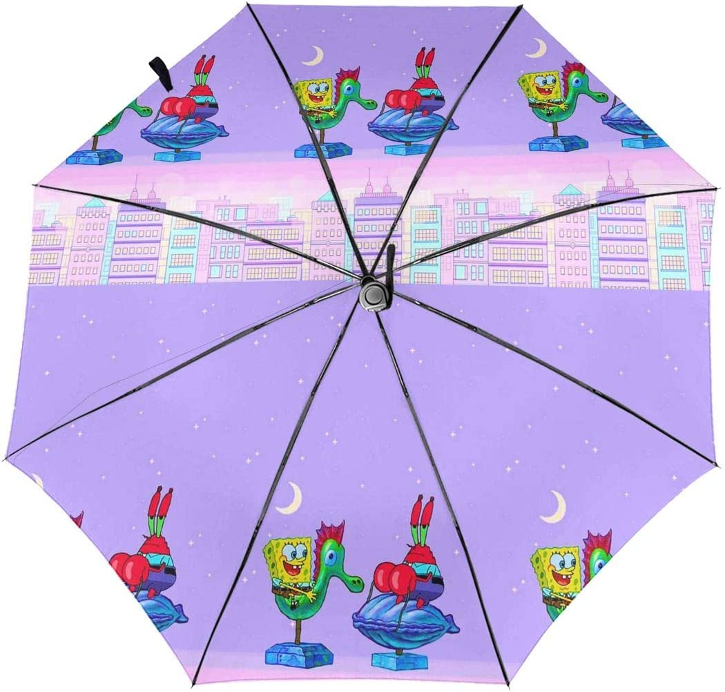 Windproof Travel Umbrella Spongebob Aesthetic Compact Folding Umbrella Automatic Open//Close