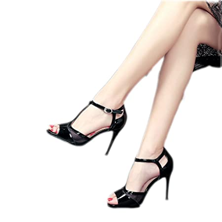 02eae3927f6 Helen High Heels Female Summer Sexy Net Yarn Thong Sandals Women s Shoes  with Black Fine with
