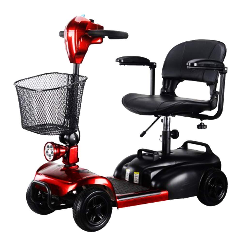 KMCQA Scooter da Viaggio Elettrico a 4 Ruote per Adulti con Mobilità Elettrica Scooter Compact da Viaggio