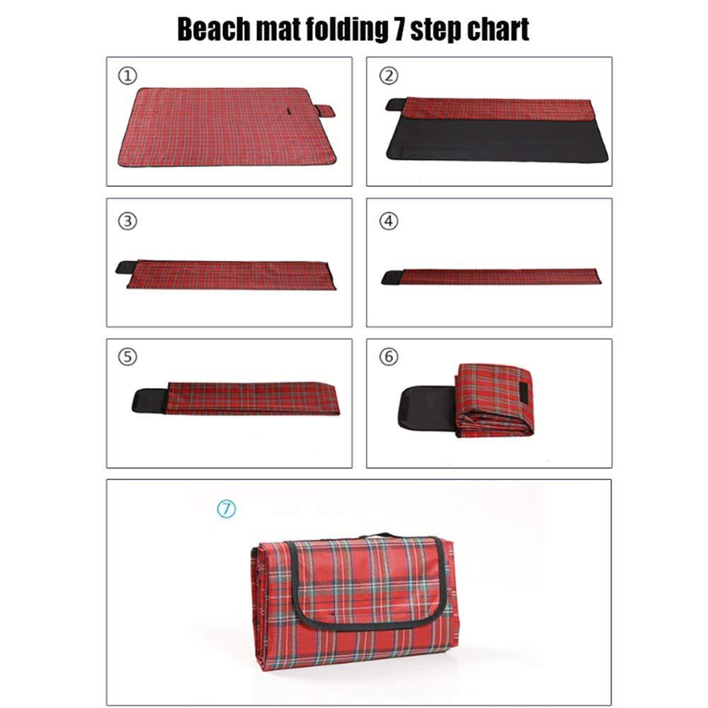 150  180cm Faltbar Beach Mat Mat Mat Picnic Blanket Outdoor Picknick-Rug Mat mit Handle für Camping Family Day Out Travel BBQ B07Q3C4GT8   Bekannt für seine schöne Qualität  7a86e6