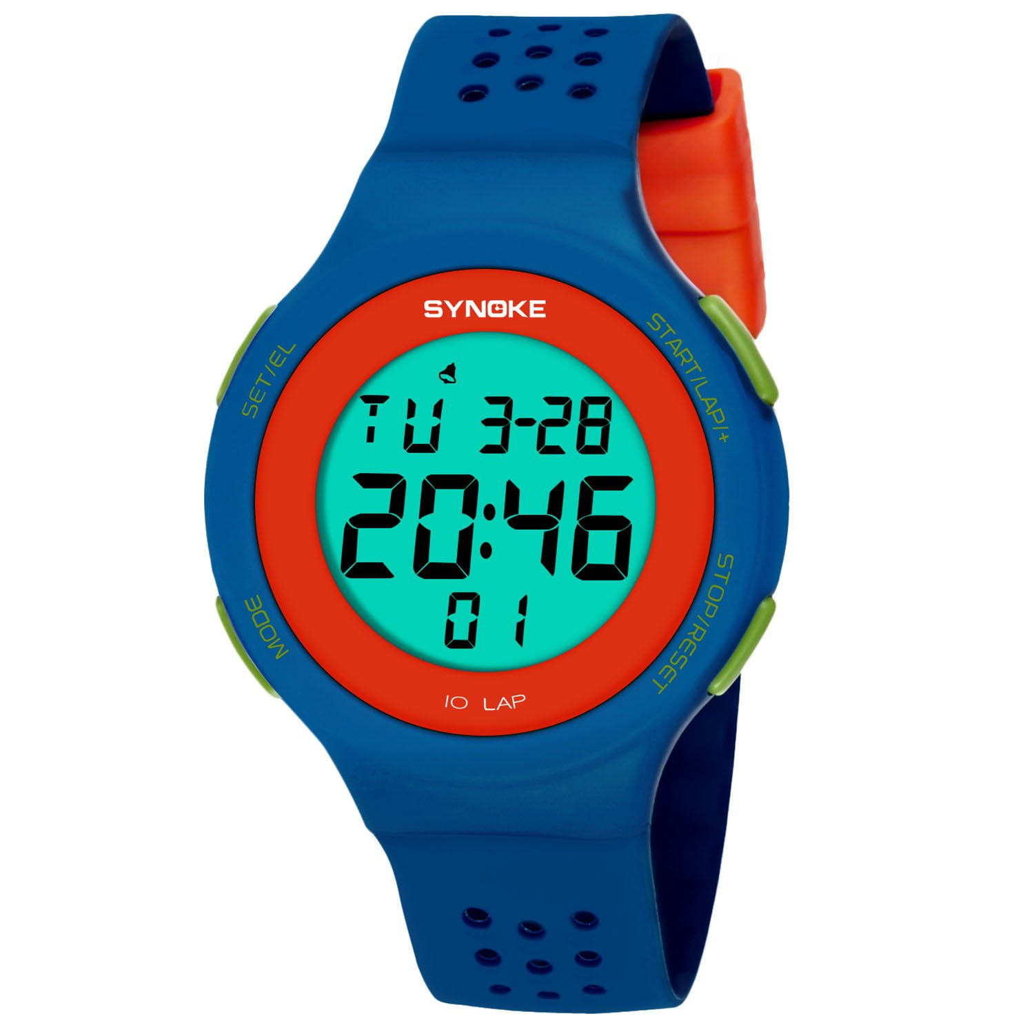 Amazon.com: Womens Watches Two Tone Sports Wristwatch Waterproof for Teenager Boys Blue: Watches