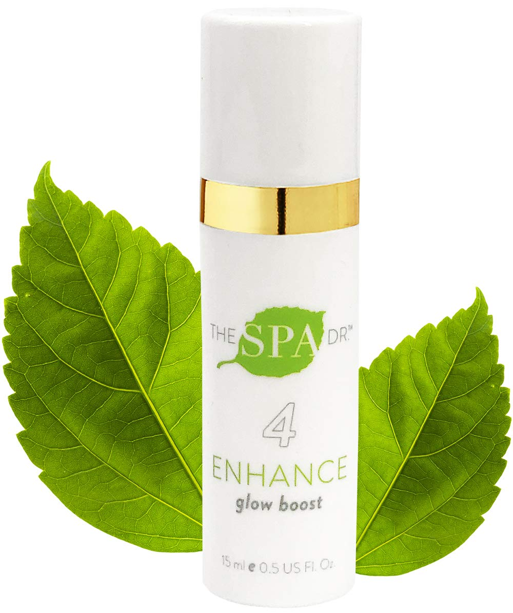 Natural & Organic Skin Care - The Spa Dr.: Step 4 Enhance - Glow Boost - Anti Aging Skin Care with Vitamin E & CoQ10-30 Day Supply - Safe For All Skin Types - Perfectly pH Balanced