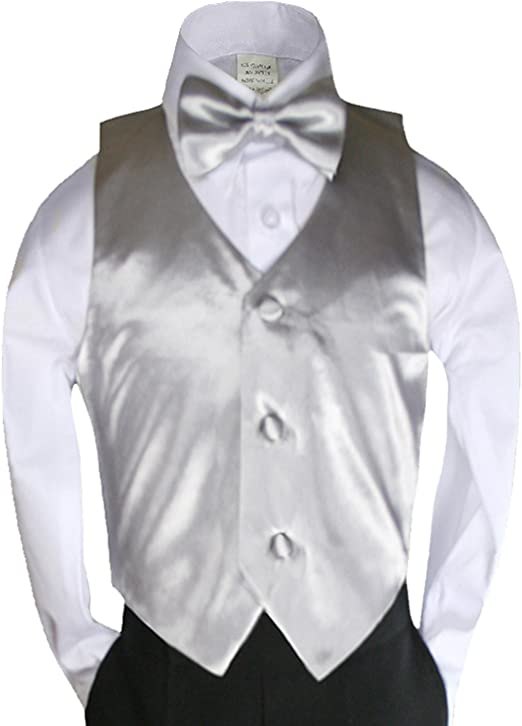 2pc Purple Necktie Vest Set Boy Wedding Graduation Party Formal Suit Sm-20