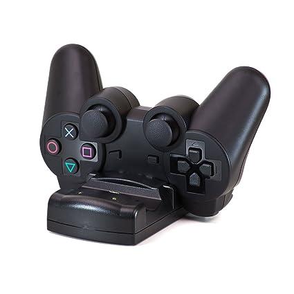 Gamekraft Cargador Para 2 Mandos Inalámbrico (PS3): Amazon ...